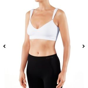 NWT Falke Pure low support sports bra white